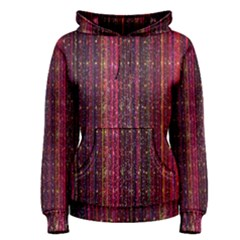 Colorful And Glowing Pixelated Pixel Pattern Women s Pullover Hoodie