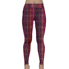 Colorful And Glowing Pixelated Pixel Pattern Classic Yoga Leggings