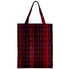 Colorful And Glowing Pixelated Pixel Pattern Zipper Classic Tote Bag