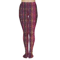 Colorful And Glowing Pixelated Pixel Pattern Women s Tights