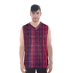 Colorful And Glowing Pixelated Pixel Pattern Men s Basketball Tank Top