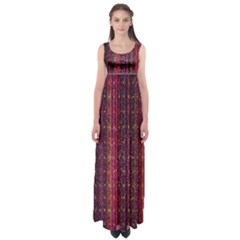 Colorful And Glowing Pixelated Pixel Pattern Empire Waist Maxi Dress