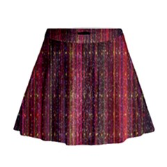 Colorful And Glowing Pixelated Pixel Pattern Mini Flare Skirt