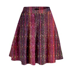 Colorful And Glowing Pixelated Pixel Pattern High Waist Skirt