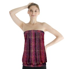 Colorful And Glowing Pixelated Pixel Pattern Strapless Top