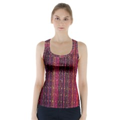Colorful And Glowing Pixelated Pixel Pattern Racer Back Sports Top