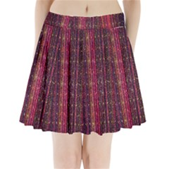 Colorful And Glowing Pixelated Pixel Pattern Pleated Mini Skirt