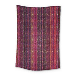 Colorful And Glowing Pixelated Pixel Pattern Small Tapestry