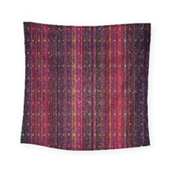 Colorful And Glowing Pixelated Pixel Pattern Square Tapestry (small)