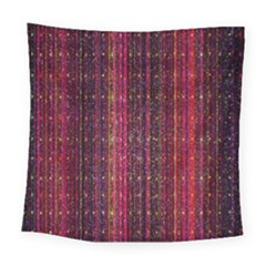 Colorful And Glowing Pixelated Pixel Pattern Square Tapestry (large)