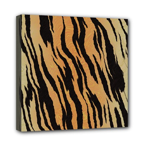 Tiger Animal Print A Completely Seamless Tile Able Background Design Pattern Mini Canvas 8  X 8