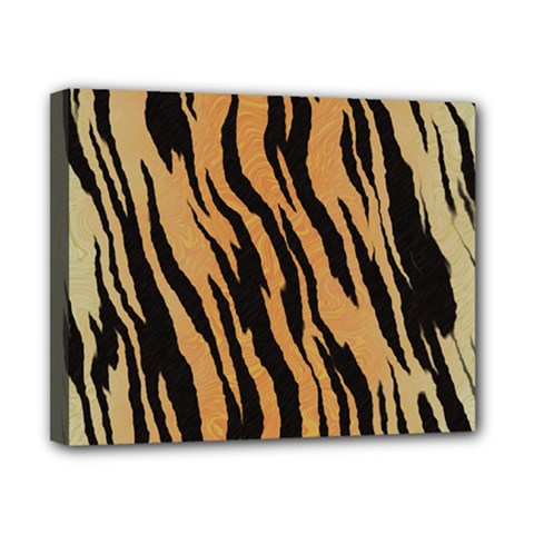 Tiger Animal Print A Completely Seamless Tile Able Background Design Pattern Canvas 10  x 8
