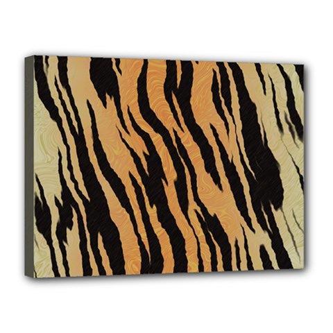 Tiger Animal Print A Completely Seamless Tile Able Background Design Pattern Canvas 16  X 12