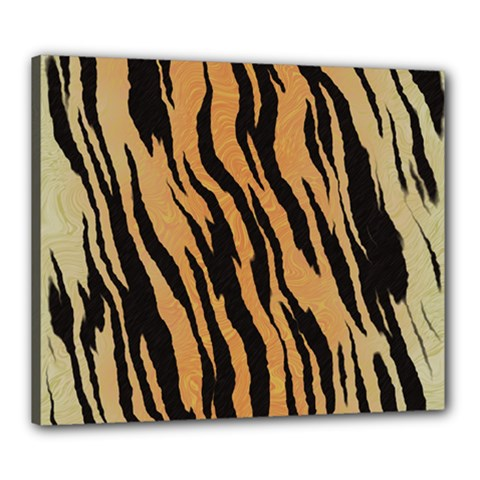 Tiger Animal Print A Completely Seamless Tile Able Background Design Pattern Canvas 24  X 20