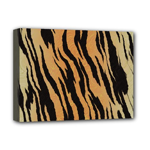 Tiger Animal Print A Completely Seamless Tile Able Background Design Pattern Deluxe Canvas 16  X 12