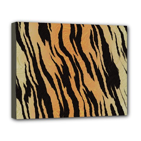 Tiger Animal Print A Completely Seamless Tile Able Background Design Pattern Deluxe Canvas 20  X 16