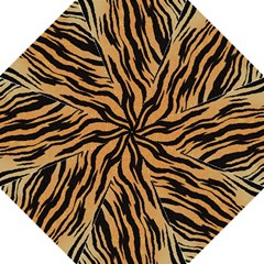 Tiger Animal Print A Completely Seamless Tile Able Background Design Pattern Hook Handle Umbrellas (Large)