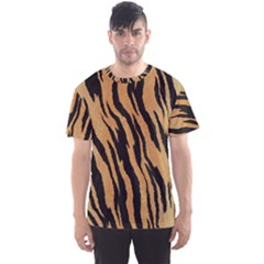 Tiger Animal Print A Completely Seamless Tile Able Background Design Pattern Men s Sport Mesh Tee