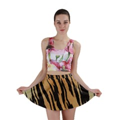 Tiger Animal Print A Completely Seamless Tile Able Background Design Pattern Mini Skirt