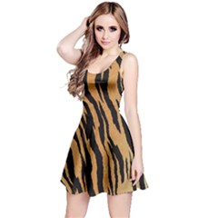 Tiger Animal Print A Completely Seamless Tile Able Background Design Pattern Reversible Sleeveless Dress