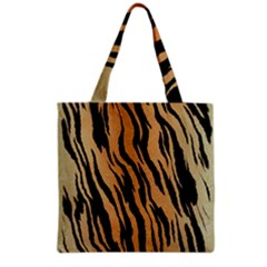 Tiger Animal Print A Completely Seamless Tile Able Background Design Pattern Grocery Tote Bag