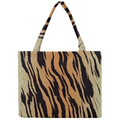 Tiger Animal Print A Completely Seamless Tile Able Background Design Pattern Mini Tote Bag