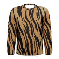 Tiger Animal Print A Completely Seamless Tile Able Background Design Pattern Men s Long Sleeve Tee