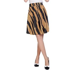 Tiger Animal Print A Completely Seamless Tile Able Background Design Pattern A Line Skirt
