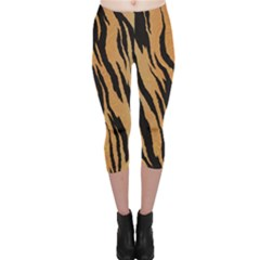 Tiger Animal Print A Completely Seamless Tile Able Background Design Pattern Capri Leggings