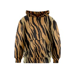 Tiger Animal Print A Completely Seamless Tile Able Background Design Pattern Kids  Pullover Hoodie