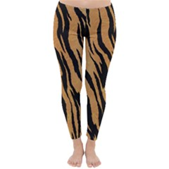 Tiger Animal Print A Completely Seamless Tile Able Background Design Pattern Classic Winter Leggings