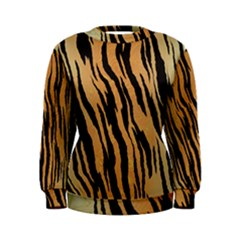 Tiger Animal Print A Completely Seamless Tile Able Background Design Pattern Women s Sweatshirt