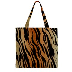 Tiger Animal Print A Completely Seamless Tile Able Background Design Pattern Zipper Grocery Tote Bag