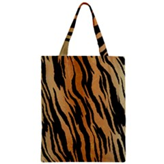 Tiger Animal Print A Completely Seamless Tile Able Background Design Pattern Zipper Classic Tote Bag