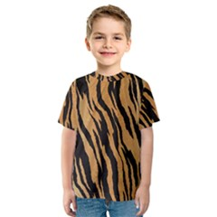 Tiger Animal Print A Completely Seamless Tile Able Background Design Pattern Kids  Sport Mesh Tee