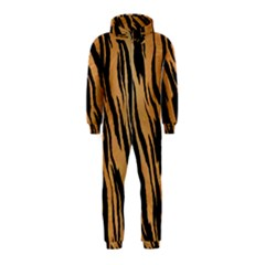 Tiger Animal Print A Completely Seamless Tile Able Background Design Pattern Hooded Jumpsuit (kids)