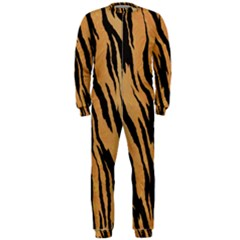 Tiger Animal Print A Completely Seamless Tile Able Background Design Pattern Onepiece Jumpsuit (men)