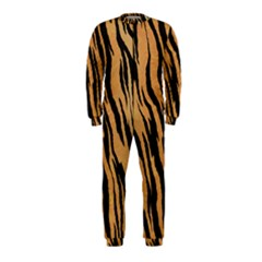 Tiger Animal Print A Completely Seamless Tile Able Background Design Pattern Onepiece Jumpsuit (kids)