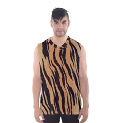 Tiger Animal Print A Completely Seamless Tile Able Background Design Pattern Men s Basketball Tank Top