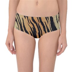 Tiger Animal Print A Completely Seamless Tile Able Background Design Pattern Mid Waist Bikini Bottoms