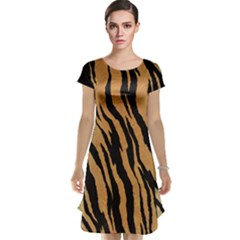 Tiger Animal Print A Completely Seamless Tile Able Background Design Pattern Cap Sleeve Nightdress
