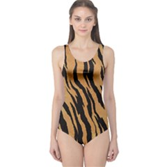 Tiger Animal Print A Completely Seamless Tile Able Background Design Pattern One Piece Swimsuit