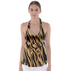 Tiger Animal Print A Completely Seamless Tile Able Background Design Pattern Babydoll Tankini Top