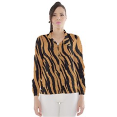 Tiger Animal Print A Completely Seamless Tile Able Background Design Pattern Wind Breaker (women)
