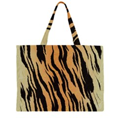 Tiger Animal Print A Completely Seamless Tile Able Background Design Pattern Large Tote Bag
