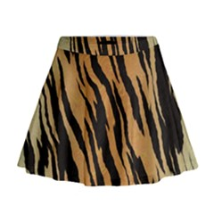 Tiger Animal Print A Completely Seamless Tile Able Background Design Pattern Mini Flare Skirt