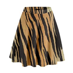 Tiger Animal Print A Completely Seamless Tile Able Background Design Pattern High Waist Skirt