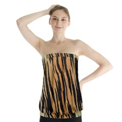 Tiger Animal Print A Completely Seamless Tile Able Background Design Pattern Strapless Top