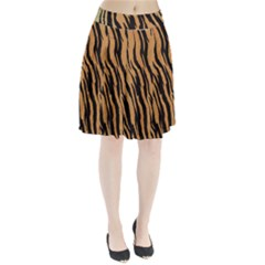Tiger Animal Print A Completely Seamless Tile Able Background Design Pattern Pleated Skirt