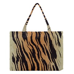 Tiger Animal Print A Completely Seamless Tile Able Background Design Pattern Medium Tote Bag